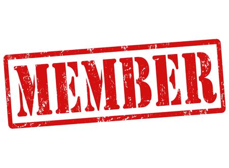 registration mark: Grunge rubber stamp with text Member, vector illustration
