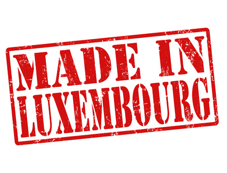 Made in Luxembourg grunge rubber stamp on white, vector illustration Vector