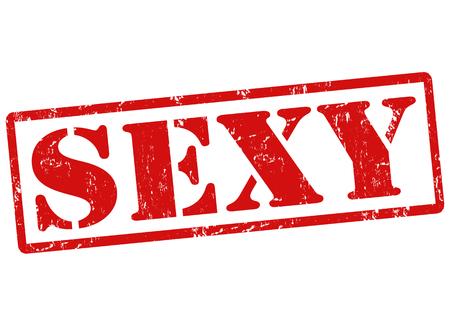 rubberstamp: Grunge timbro di gomma con il testo Sexy, illustrazione vettoriale Vettoriali