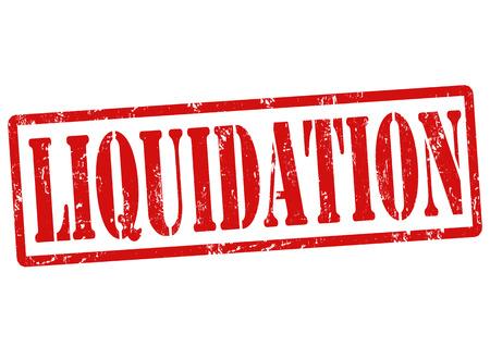 liquidation: Grunge rubber stamp with text Liquidation, vector illustration