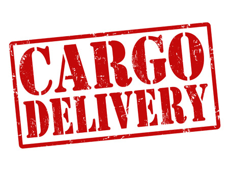 courier service: Grunge stamp with the words Cargo Delivery written inside, vector illustration