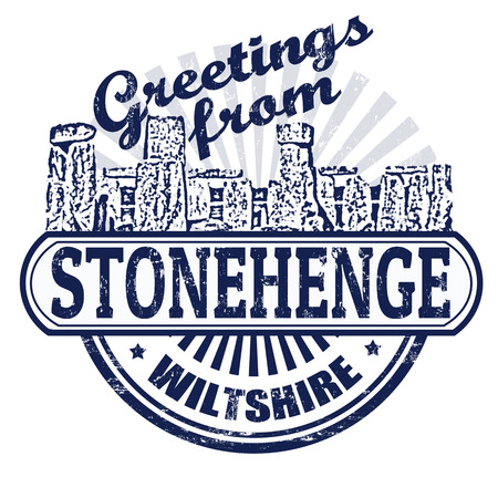 stonehenge: Grunge rubber stamp with text Greetings from Stonehenge, vector illustration Illustration