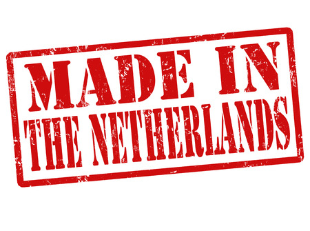 made in netherlands: Made in The Netherlands grunge rubber stamp on white, vector illustration