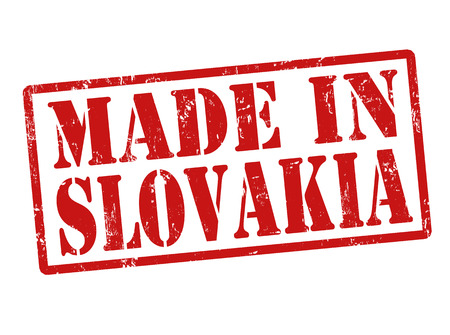 Made in Slovakia grunge rubber stamp on white, vector illustration Ilustrace