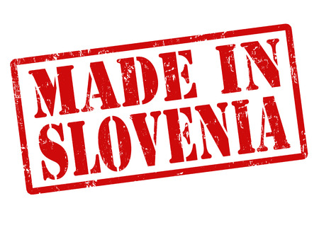 manufactured: Made in Slovenia grunge rubber stamp on white, vector illustration