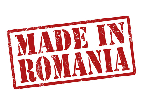 Made in Romania grunge rubber stamp on white, vector illustration Vector