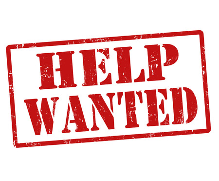 help wanted: Help Wanted grunge rubber stamp on white, vector illustration Illustration