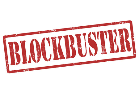blockbuster: Blockbuster grunge rubber stamp on white, vector illustration Illustration