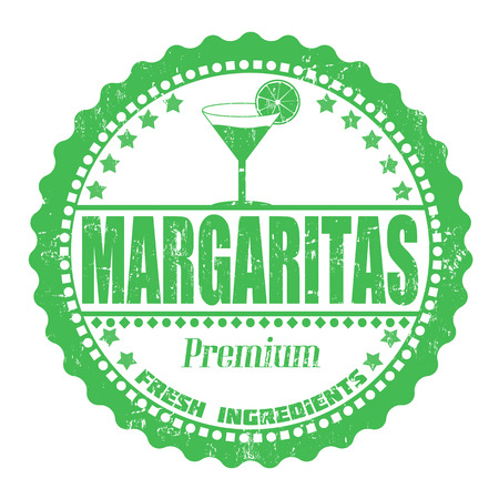 margarita: Margaritas grunge rubber stamp on white, vector illustration