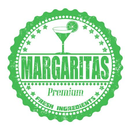 Margaritas grunge rubber stamp on white, vector illustration