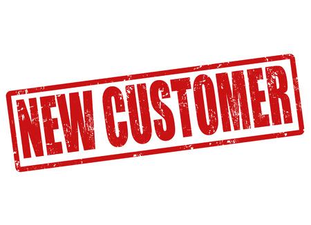 New customer grunge rubber stamp on white, vector illustration Stock Vector - 22911825