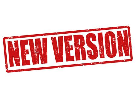 updated: Nueva versi�n grunge sello de goma en blanco, ilustraci�n vectorial Vectores