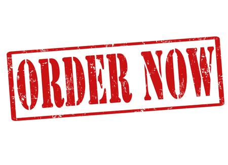 Order now grunge rubber stamp on white, vector illustration Stock Vector - 22912014