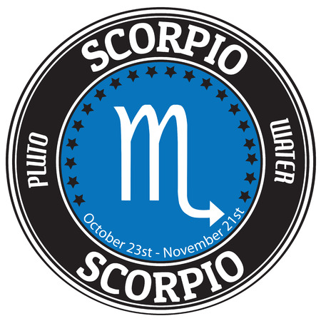 Scorpio zodiac astrology label  photo