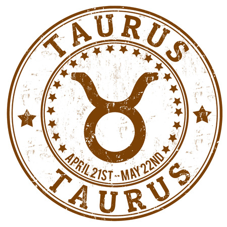 taurus: Taurus zodiac astrology grunge stamp suitable for use on website, in print and promotional materials, and for advertising Illustration