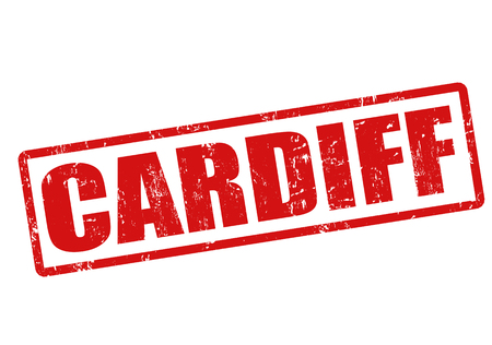Cardiff grunge rubber stamp on white, vector illustration Stock Vector - 23078410