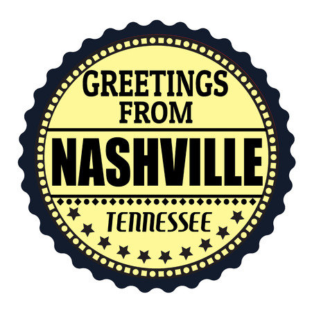 nashville: Label or  rubber stamp with text Greetings from Nashville, vector illustration