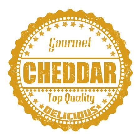 cheddar: Cheddar grunge rubber stamp on white, vector illustration Illustration