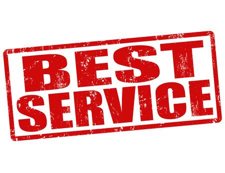 quality assurance: Best service grunge rubber stamp on white, vector illustration Illustration