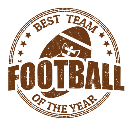 Football grunge rubber stamp on white, vector illustration Stock Vector - 23226095