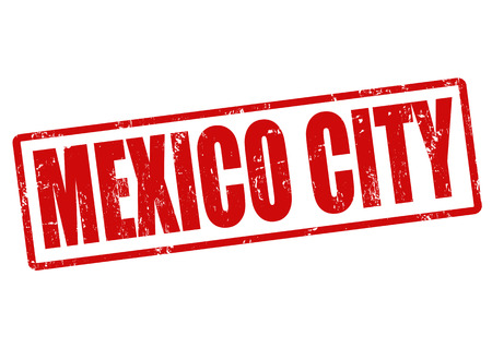 mexico city: Mexico city grunge rubber stamp on white, vector illustration Illustration