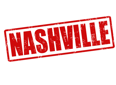 Nashville grunge rubber stamp on white, vector illustration Vector