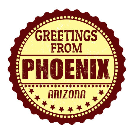Label or  rubber stamp with text Greetings from Phoenix, vector illustration Vector