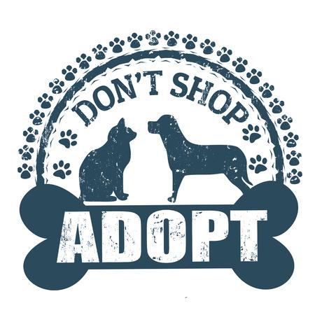 patas de perros: No hace compras, adoptar sello