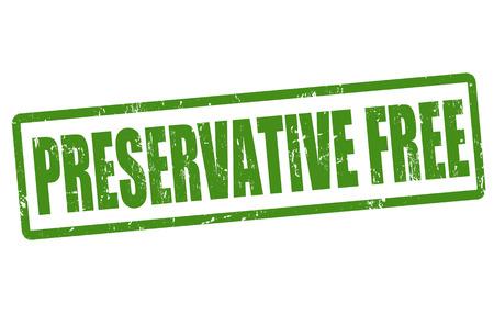 preservative: Preservative free grunge rubber stamp on white, vector illustration Illustration