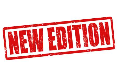 edizione straordinaria: Nuova edizione del grunge timbro di gomma su bianco, illustrazione vettoriale