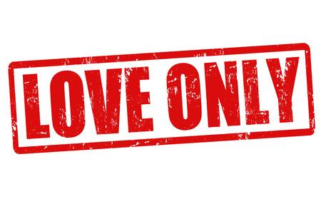 Love only grunge rubber stamp on white, vector illustration Stock Vector - 23199307