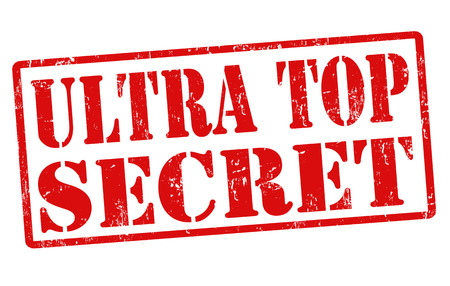 Ultra top secret grunge rubber stamp on white, vector illustration Stock Vector - 23199309