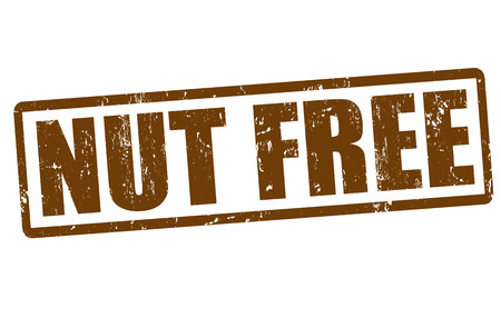 allergic foods: Nut free grunge rubber stamp on white, vector illustration