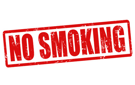 No smoking grunge rubber stamp on white, vector illustration Vector
