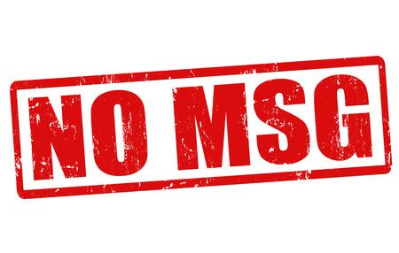 No MSG grunge rubber stamp on white, vector illustration