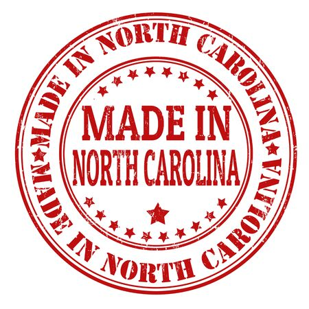 Made in  North Carolina grunge rubber stamp, vector illustration Vector