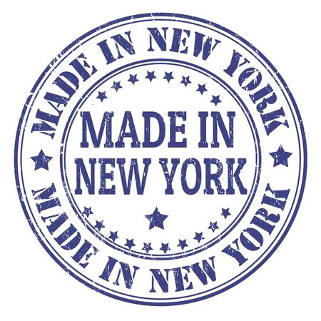 Made in New York grunge rubber stamp, vector illustration