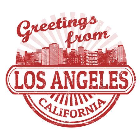 los angeles: Grunge Stempel mit Text Gr��e von Los Angeles, Vektor-Illustration Illustration