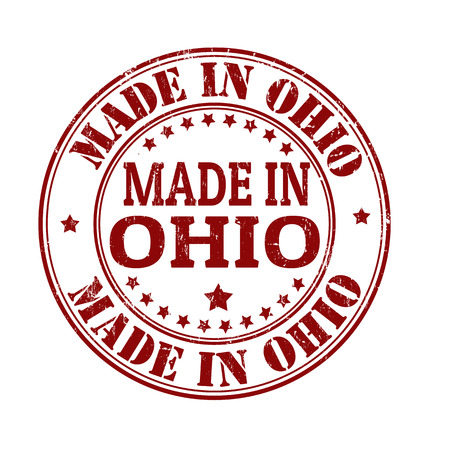 ohio: Made in Ohio grunge rubber stamp, vector illustration