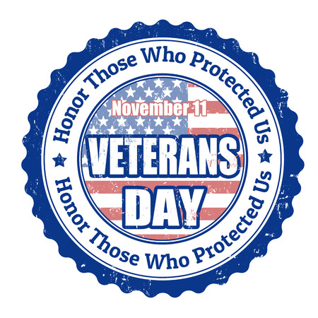 veterans day: Grunge rubber stamp with the text Veterans Day written inside, vector illustration
