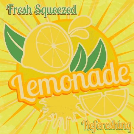 lemonade: Lemonade poster in vintage style, vector illustration