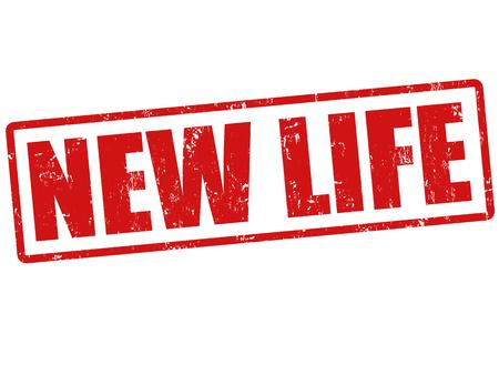 New life grunge rubber stamp on white, vector illustration Stock Vector - 23469211