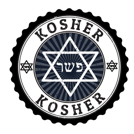 Kosher grunge rubber stamp on white, vector illustration Vector