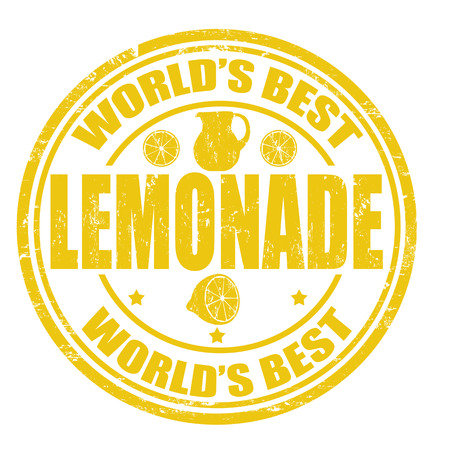 Grunge rubber stamp with the word Lemonade written inside the stamp Vector