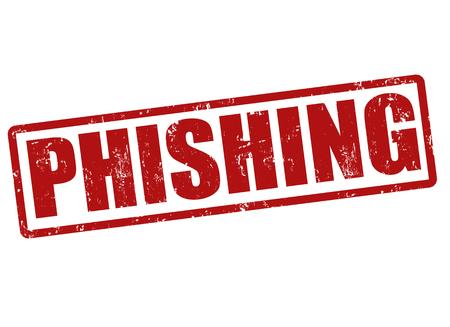 phishing: Phishing grunge rubber stamp on white, vector illustration