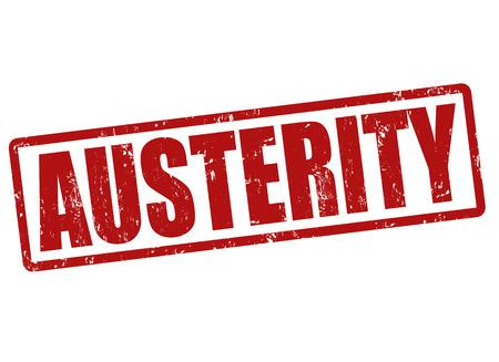austerity: Austerity grunge rubber stamp on white, vector illustration Illustration