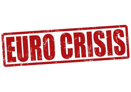 Euro crisis grunge rubber stamp on white, vector illustration Stock Vector - 23776884