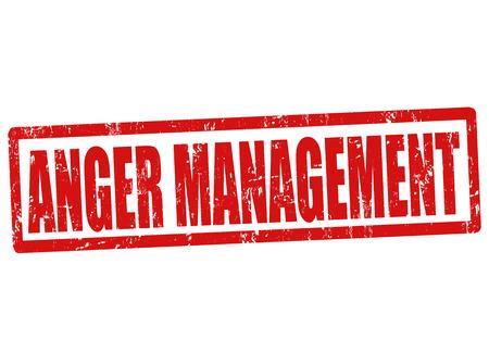 anger management: Anger management grunge rubber stamp on white, vector illustration Illustration