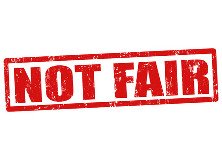 bigoted: Not fair grunge rubber stamp on white, vector illustration Illustration