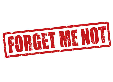 forget: Forget me not grunge rubber stamp on white, vector illustration